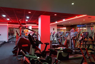 Gym refresh works ongoing in center of London