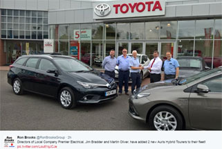 Premier add new hybrid Toyota's to its fleet of vehicles